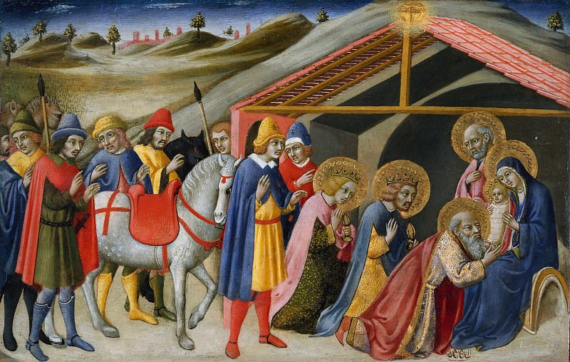 Sano di Pietro (Italian, Siena 1405–1481 Siena) - The Adoration of the Magi. Metropolitan Museum: part 2
