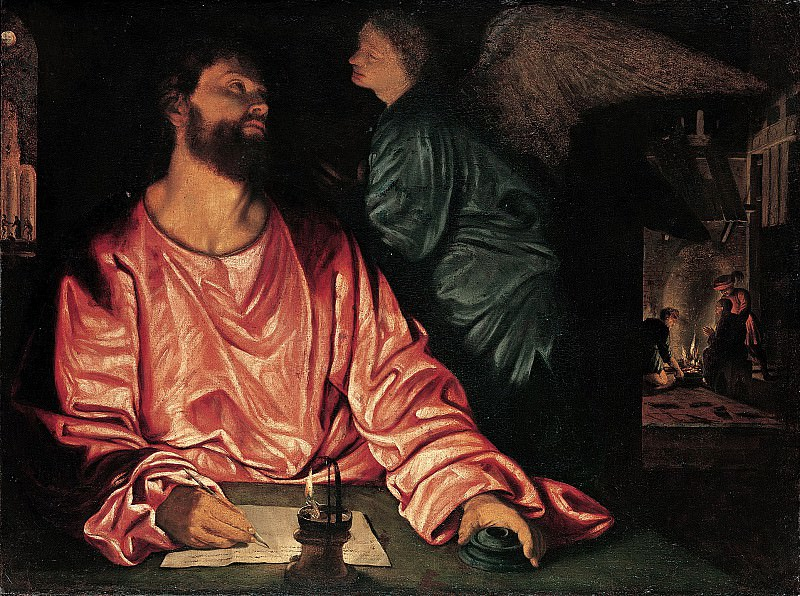 Giovanni Gerolamo Savoldo - Saint Matthew and the Angel. Metropolitan Museum: part 2