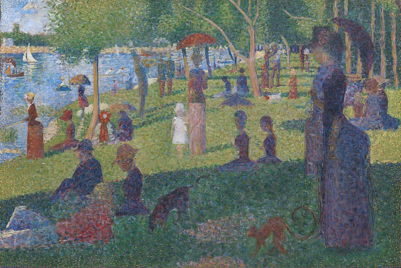Georges Seurat - Study for A Sunday on La Grande Jatte. Metropolitan Museum: part 2