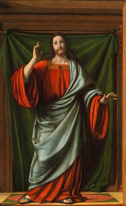 Andrea Solario - Christ Blessing. Metropolitan Museum: part 2