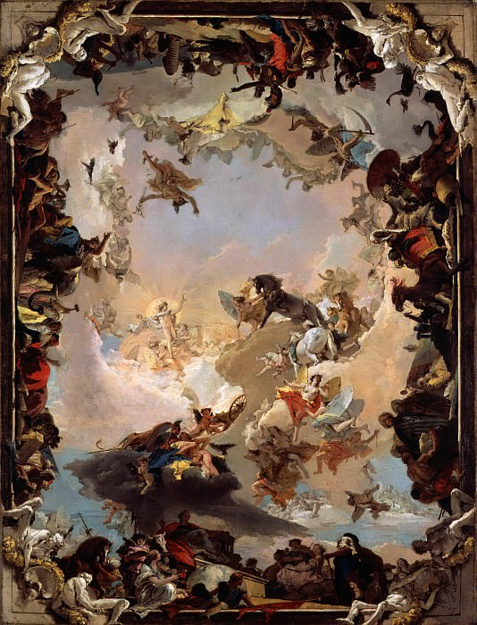 Giovanni Battista Tiepolo - Allegory of the Planets and Continents. Metropolitan Museum: part 2