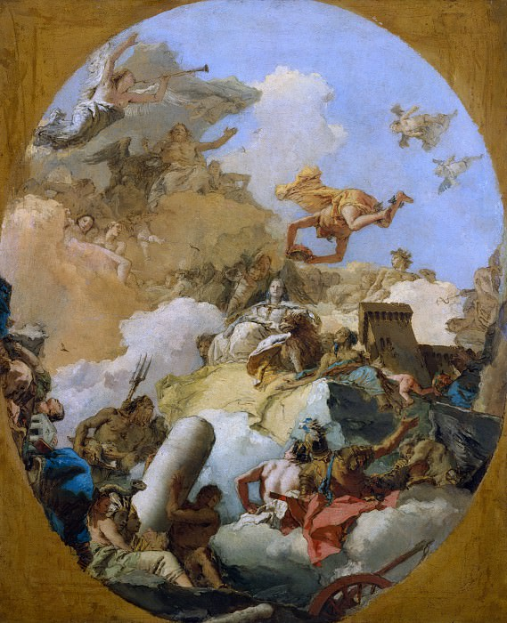 Giovanni Battista Tiepolo - The Apotheosis of the Spanish Monarchy. Metropolitan Museum: part 2