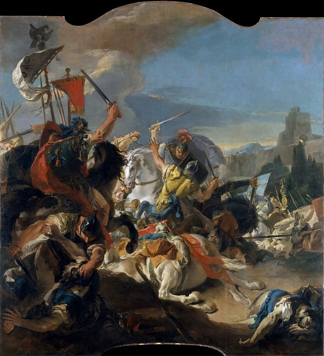 The Battle of Vercellae. Giovanni Battista Tiepolo