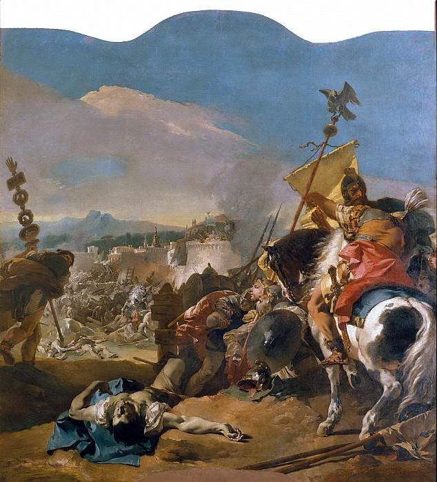 Giovanni Battista Tiepolo - The Capture of Carthage. Metropolitan Museum: part 2