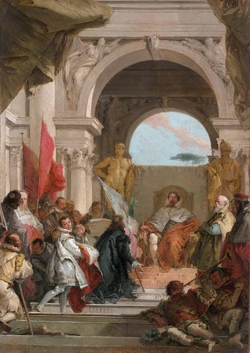Giovanni Battista Tiepolo - The Investiture of Bishop Harold as Duke of Franconia. Metropolitan Museum: part 2