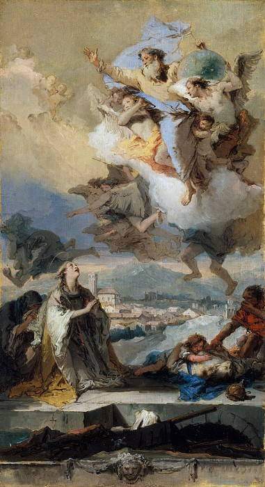 Saint Thecla Praying for the Plague-Stricken. Giovanni Battista Tiepolo