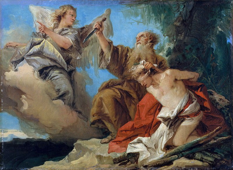 Giovanni Domenico Tiepolo - The Sacrifice of Isaac. Metropolitan Museum: part 2