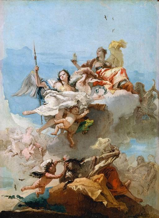 Giovanni Domenico Tiepolo - Virtue and Nobility. Metropolitan Museum: part 2