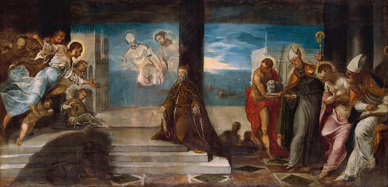 Jacopo Tintoretto (Italian, Venice 1519–1594 Venice) - Doge Alvise Mocenigo (1507–1577) Presented to the Redeemer. Metropolitan Museum: part 2