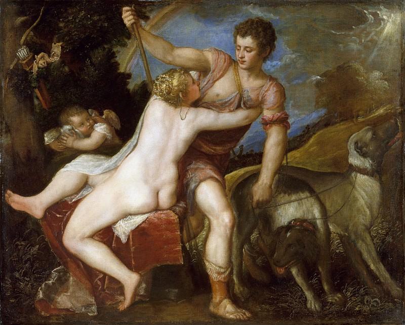 Titian (Italian, Pieve di Cadore ca. 1485/90?–1576 Venice) - Venus and Adonis. Metropolitan Museum: part 2