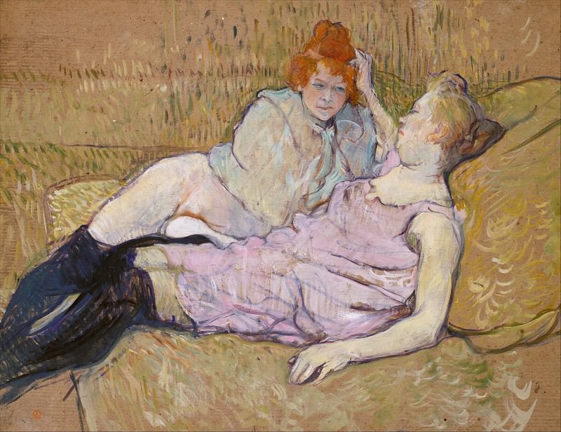 Henri de Toulouse-Lautrec - The Sofa. Metropolitan Museum: part 2