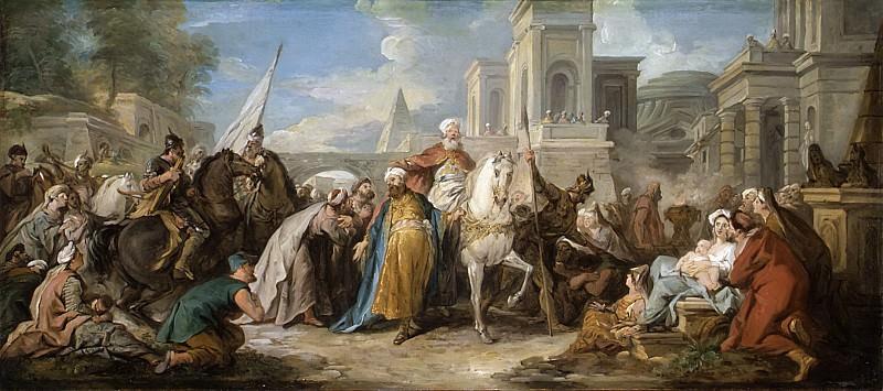 Жан-Франсуа де Труа - Триумф Мардохея. Музей Метрополитен: часть 2