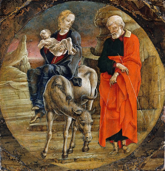 Cosmè Tura (Italian, Ferrara ca. 1433–1495 Ferrara) - The Flight into Egypt. Metropolitan Museum: part 2