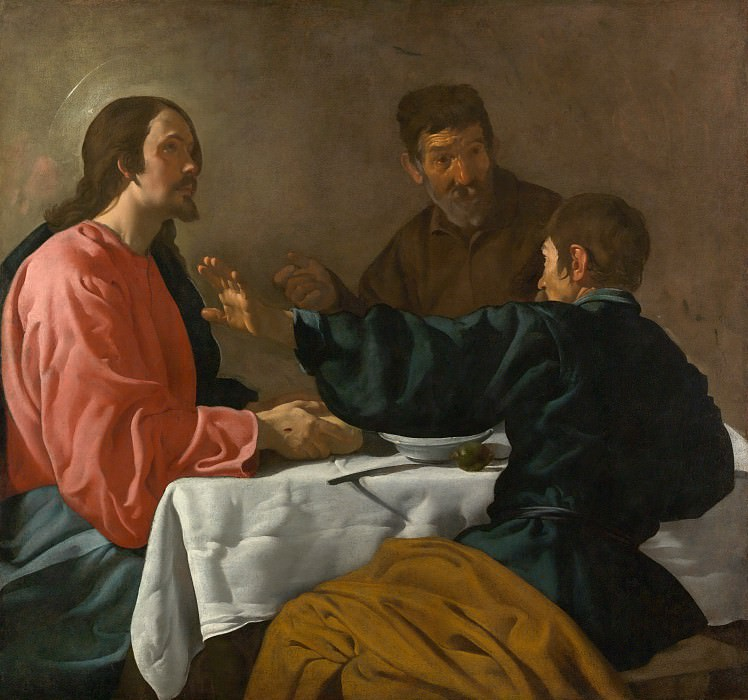 Velázquez (Spanish, Seville 1599–1660 Madrid) - The Supper at Emmaus. Metropolitan Museum: part 2