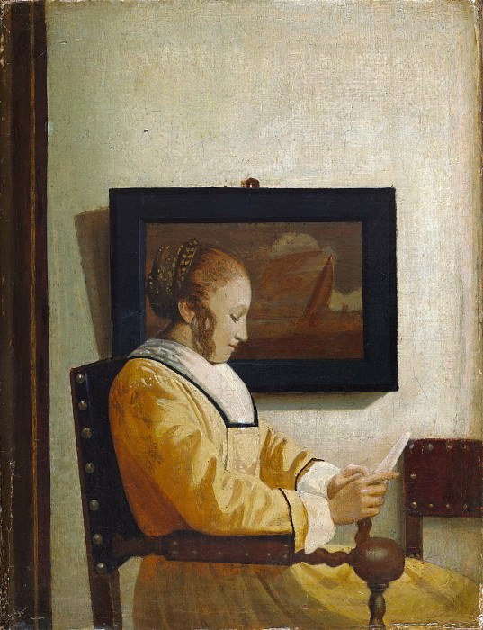 Imitator of Johannes Vermeer - A Young Woman Reading. Metropolitan Museum: part 2