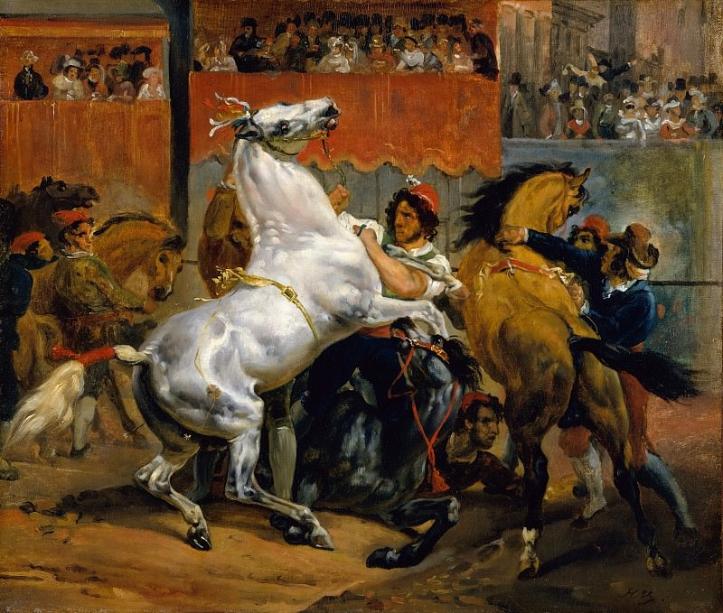 Horace Vernet - The Start of the Race of the Riderless Horses. Metropolitan Museum: part 2