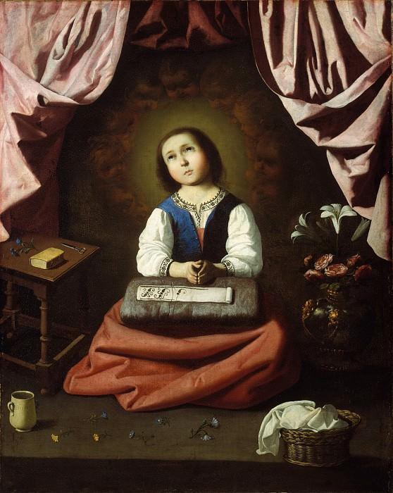 Франсиско де Сурбаран - Дева Мария в детстве. Музей Метрополитен: часть 2