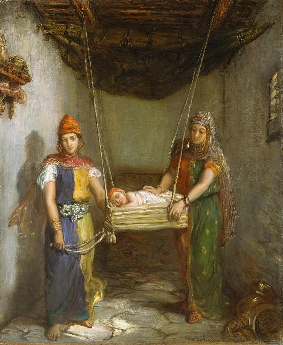 Théodore Chassériau - Scene in the Jewish Quarter of Constantine. Metropolitan Museum: part 2