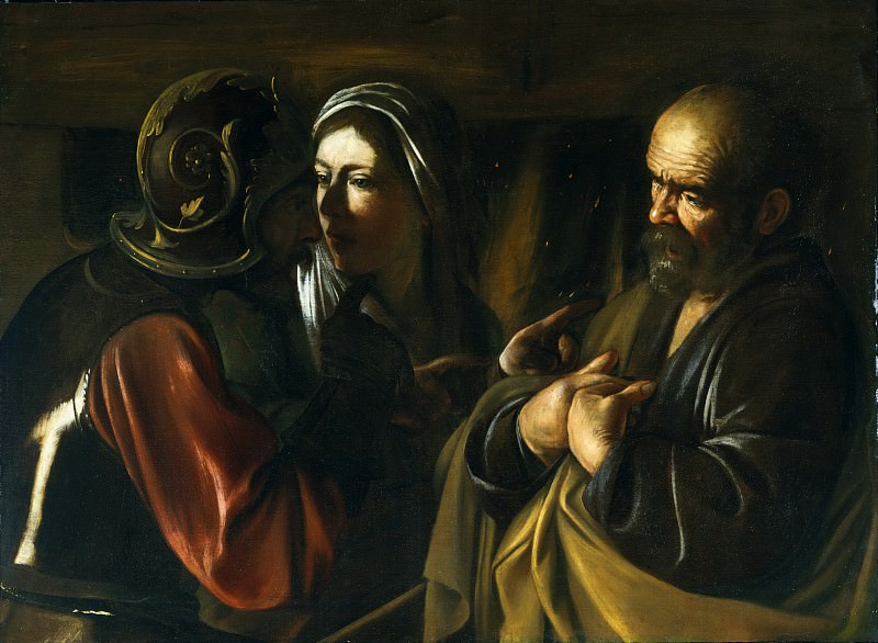 Caravaggio (Italian, Milan or Caravaggio 1571–1610 Porto Ercole) - The Denial of Saint Peter. Metropolitan Museum: part 2