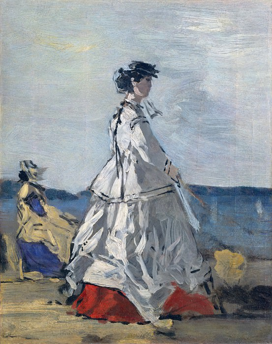 Eugène Boudin - Princess Pauline Metternich (1836–1921) on the Beach. Metropolitan Museum: part 2