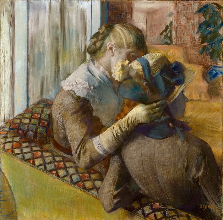 Edgar Degas - At the Milliner's. Metropolitan Museum: part 2