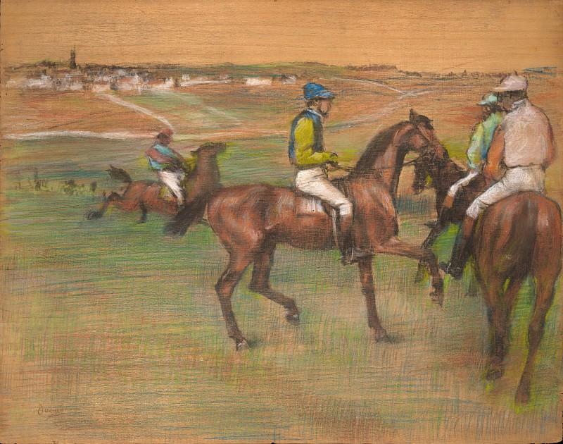 Edgar Degas - Race Horses. Metropolitan Museum: part 2