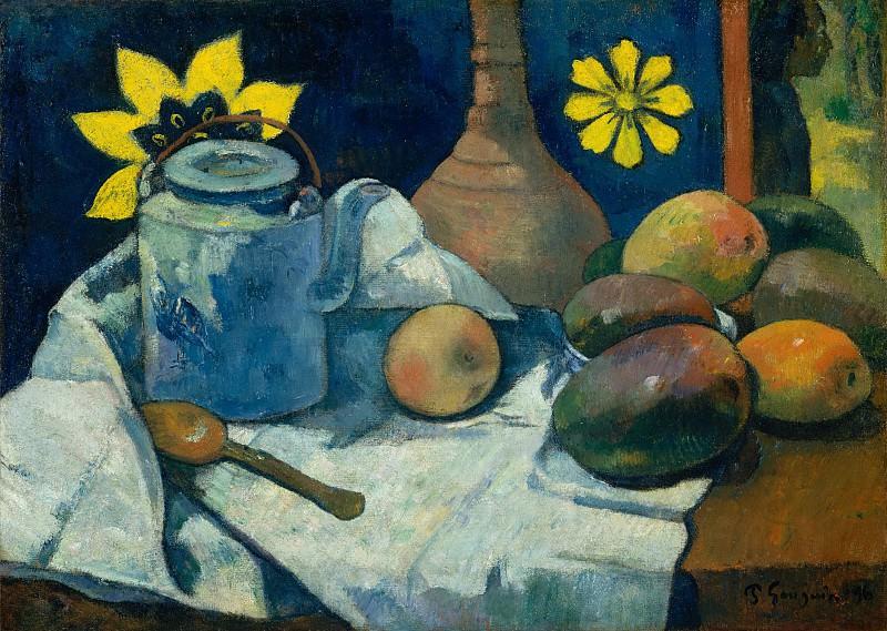 Paul Gauguin - Still Life with Teapot and Fruit. Metropolitan Museum: part 2