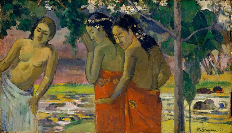 Paul Gauguin - Three Tahitian Women. Metropolitan Museum: part 2