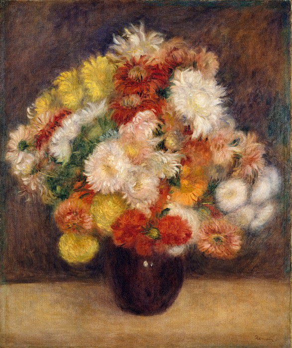 Auguste Renoir - Bouquet of Chrysanthemums. Metropolitan Museum: part 2
