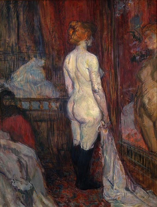 Henri de Toulouse-Lautrec - Woman before a Mirror. Metropolitan Museum: part 2