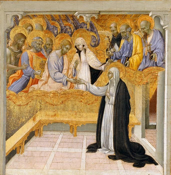 Giovanni di Paolo (Italian, Siena 1398–1482 Siena) - The Mystic Marriage of Saint Catherine of Siena. Metropolitan Museum: part 2