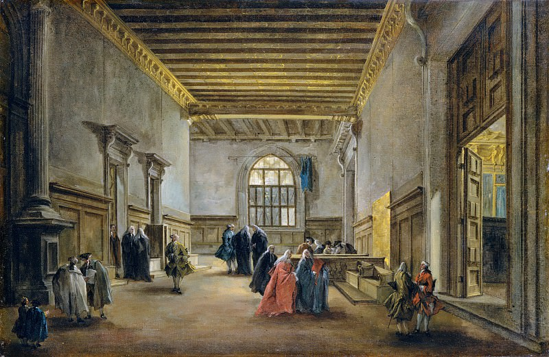 Francesco Guardi - The Antechamber of the Sala del Maggior Consiglio. Metropolitan Museum: part 2