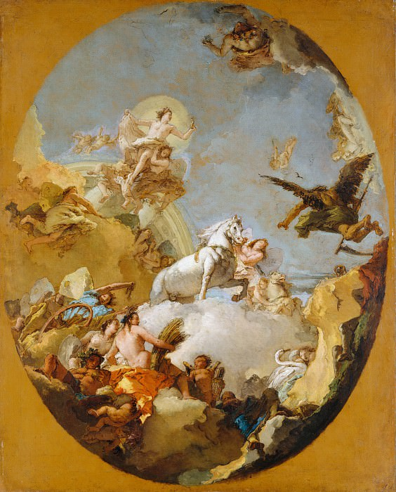 Giovanni Battista Tiepolo - The Chariot of Aurora. Metropolitan Museum: part 2