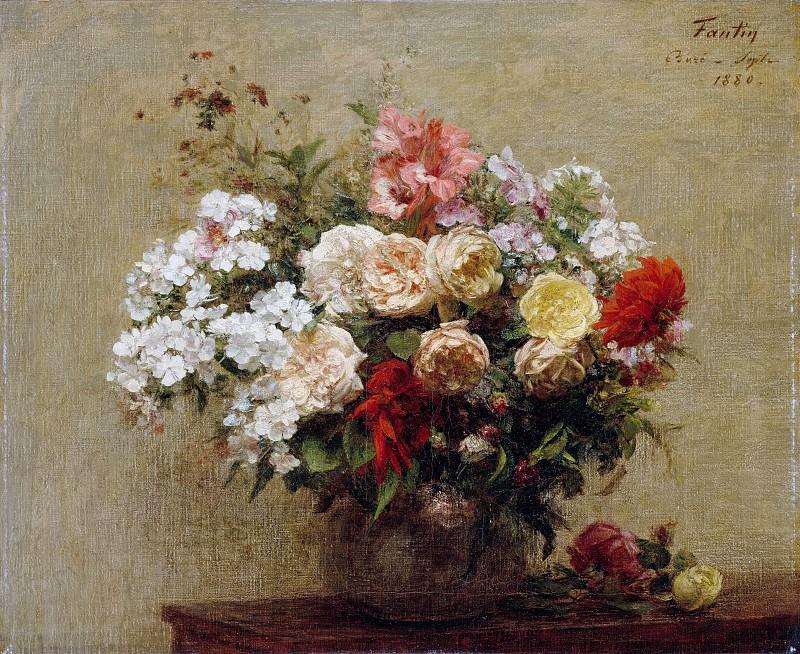Анри Фантен-Латур - Летние цветы. Музей Метрополитен: часть 2