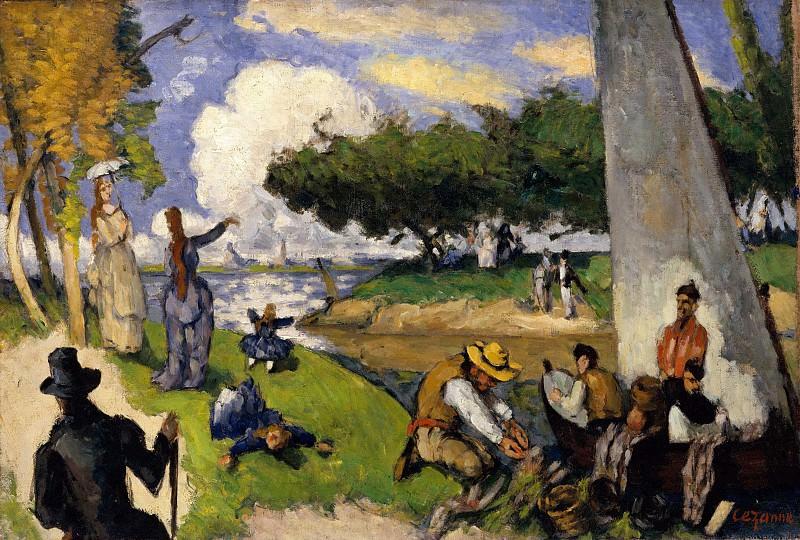 Paul Cézanne - The Fishermen (Fantastic Scene). Metropolitan Museum: part 2