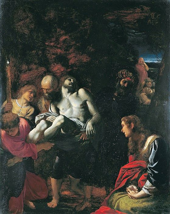 Annibale Carracci - The Burial of Christ. Metropolitan Museum: part 2