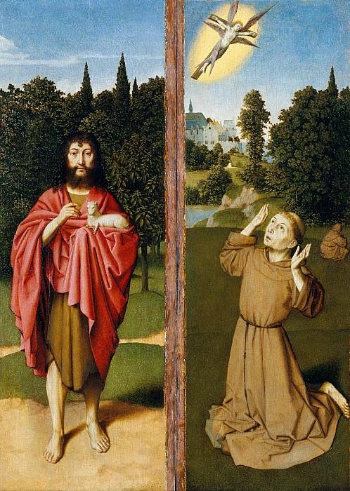 Gerard David - Saint John the Baptist; Saint Francis Receiving the Stigmata. Metropolitan Museum: part 2