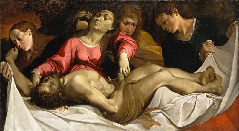 Ludovico Carracci - The Lamentation. Metropolitan Museum: part 2