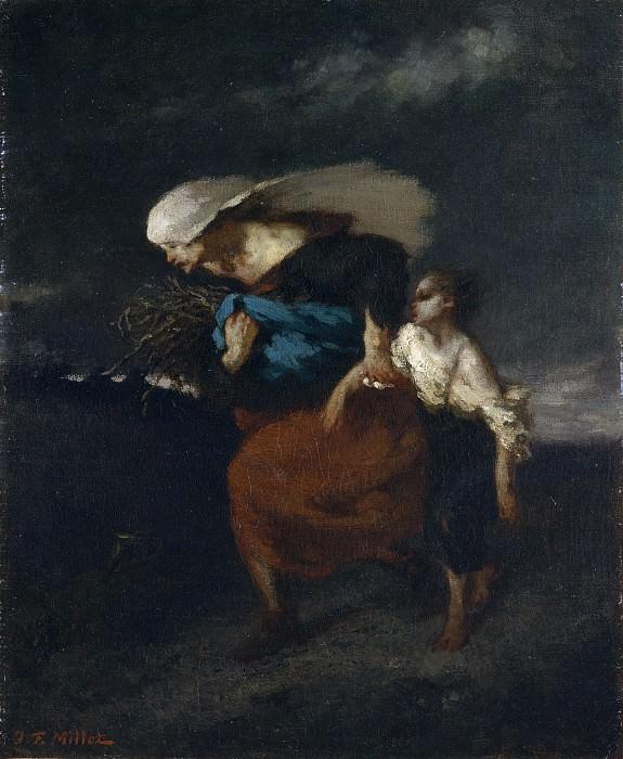 Jean-François Millet - Retreat from the Storm. Metropolitan Museum: part 2