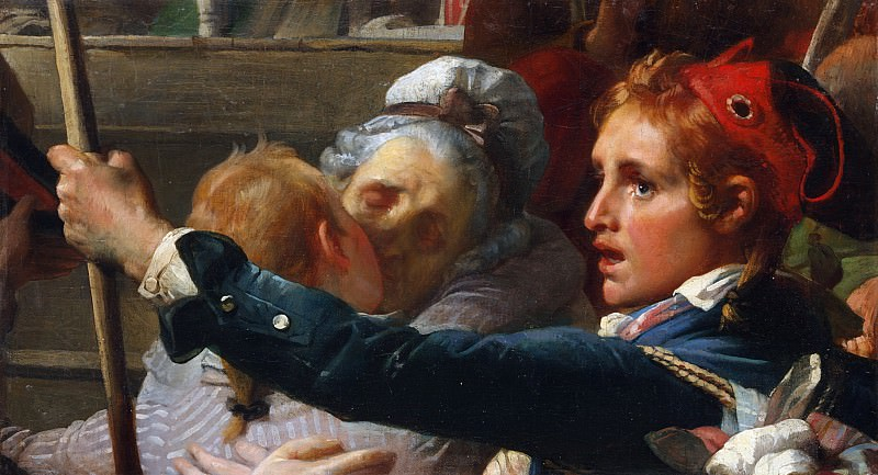 Auguste-Hyacinthe DeBay - The Nation Is in Danger, or the Enrollment of Volunteers at the Place du Palais Royal in July 1792. Metropolitan Museum: part 2