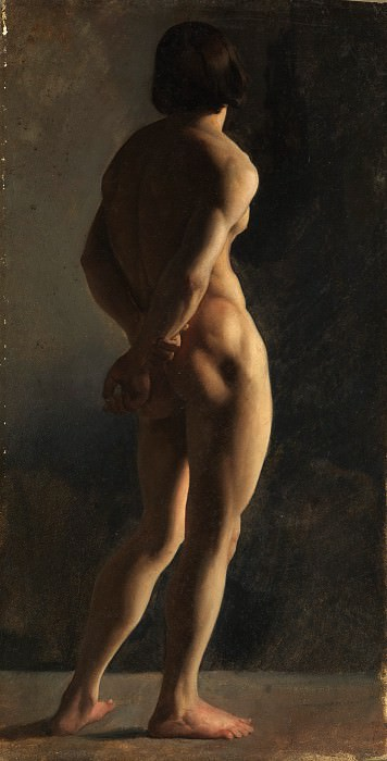 Hippolyte Flandrin - Male Nude, Seen from Behind. Metropolitan Museum: part 2