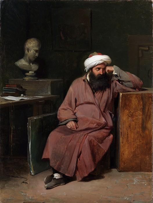 Auguste-Xavier Leprince - Man in Oriental Costume in the Artist's Studio. Metropolitan Museum: part 2