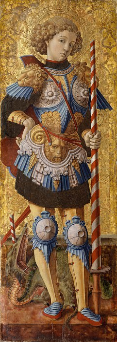 Carlo Crivelli , active by 1457–died 1493 Ascoli Piceno) - Saint George. Metropolitan Museum: part 2