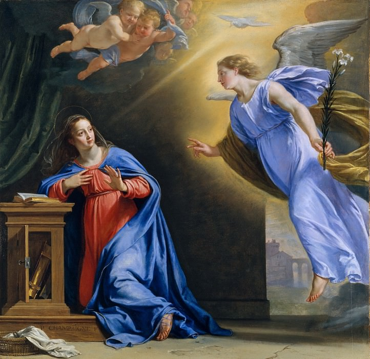 Philippe de Champaigne - The Annunciation. Metropolitan Museum: part 2
