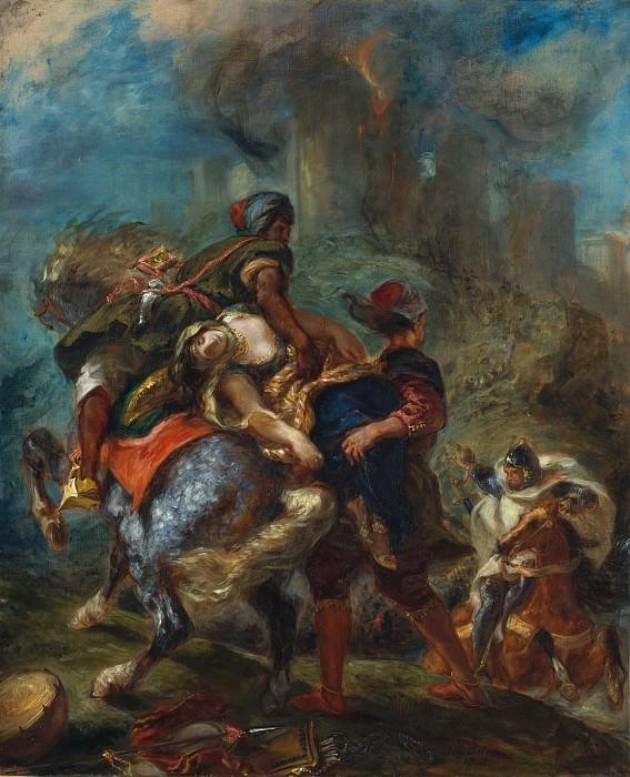 Eugène Delacroix - The Abduction of Rebecca. Metropolitan Museum: part 2