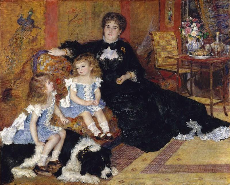 Auguste Renoir - Madame Georges Charpentier (née Marguérite-Louise Lemonnier, 1848–1904) and Her Children, Georgette-Berthe (1872–1945) and Paul-Émile-Charles (1875–1895). Metropolitan Museum: part 2