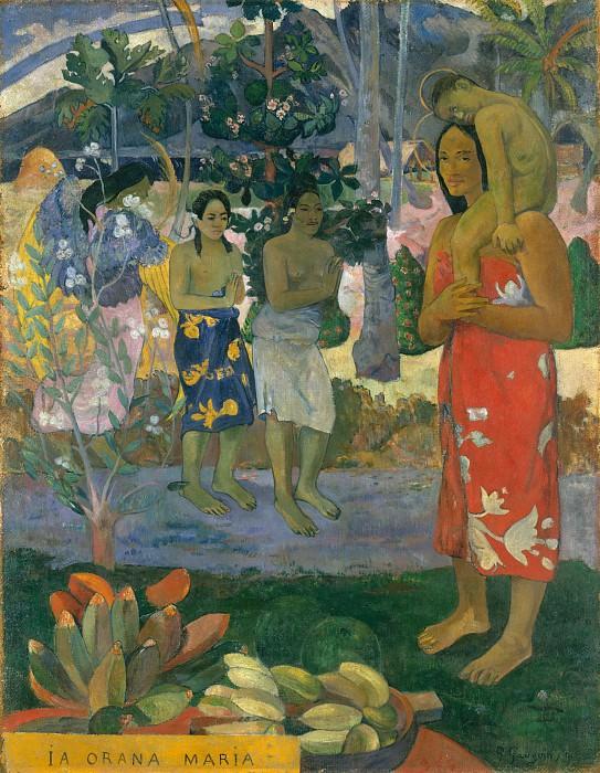 Paul Gauguin - Ia Orana Maria (Hail Mary). Metropolitan Museum: part 2