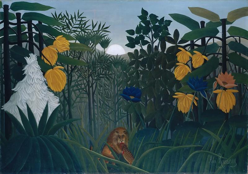 Henri Rousseau (French, Laval 1844–1910 Paris) - The Repast of the Lion. Metropolitan Museum: part 2