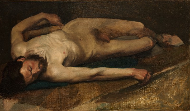 Edgar Degas - Male Nude. Metropolitan Museum: part 2