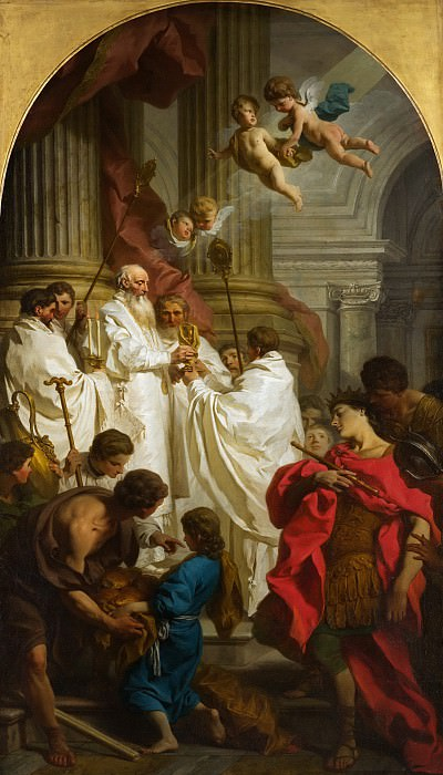 Pierre Hubert Subleyras - The Mass of Saint Basil. Metropolitan Museum: part 2